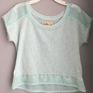 Light blue Hollister Crop Top